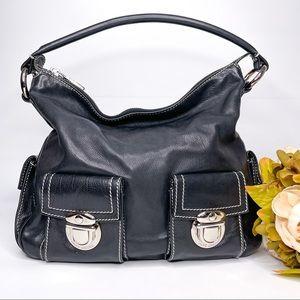 Marc Jacobs Blake Large Black Leather Hobo Bag